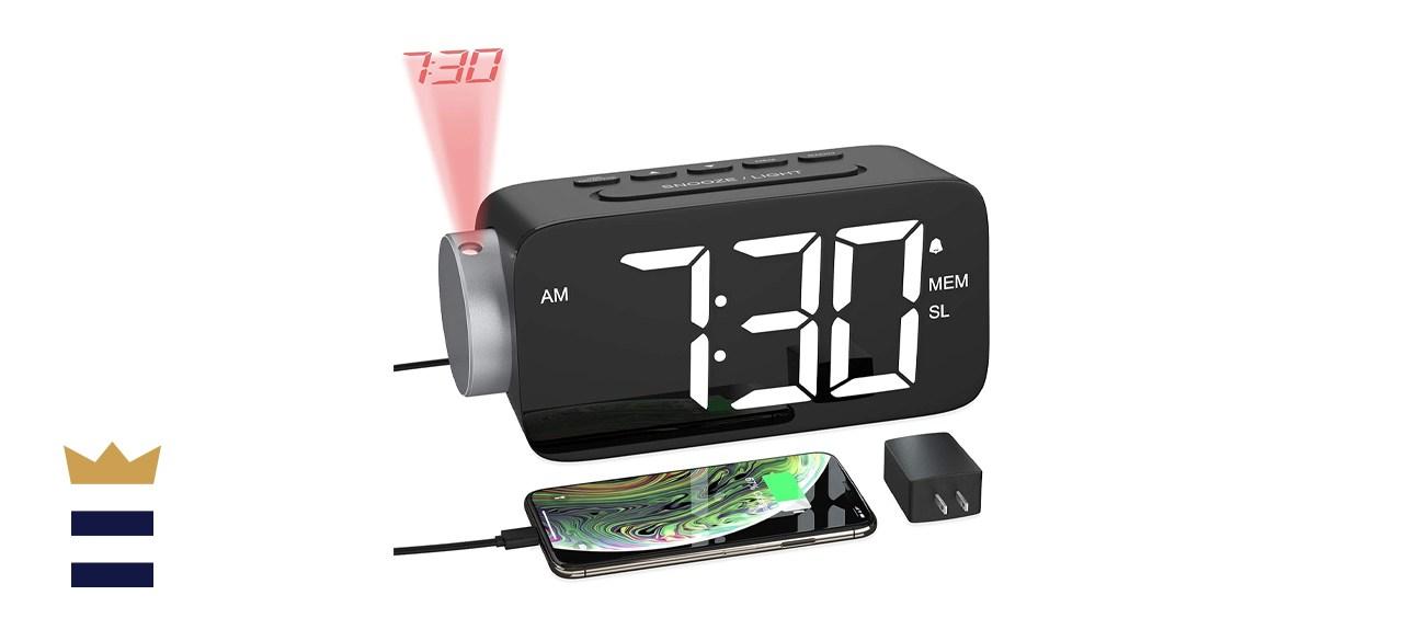 YISSVIC Projection Alarm Clock
