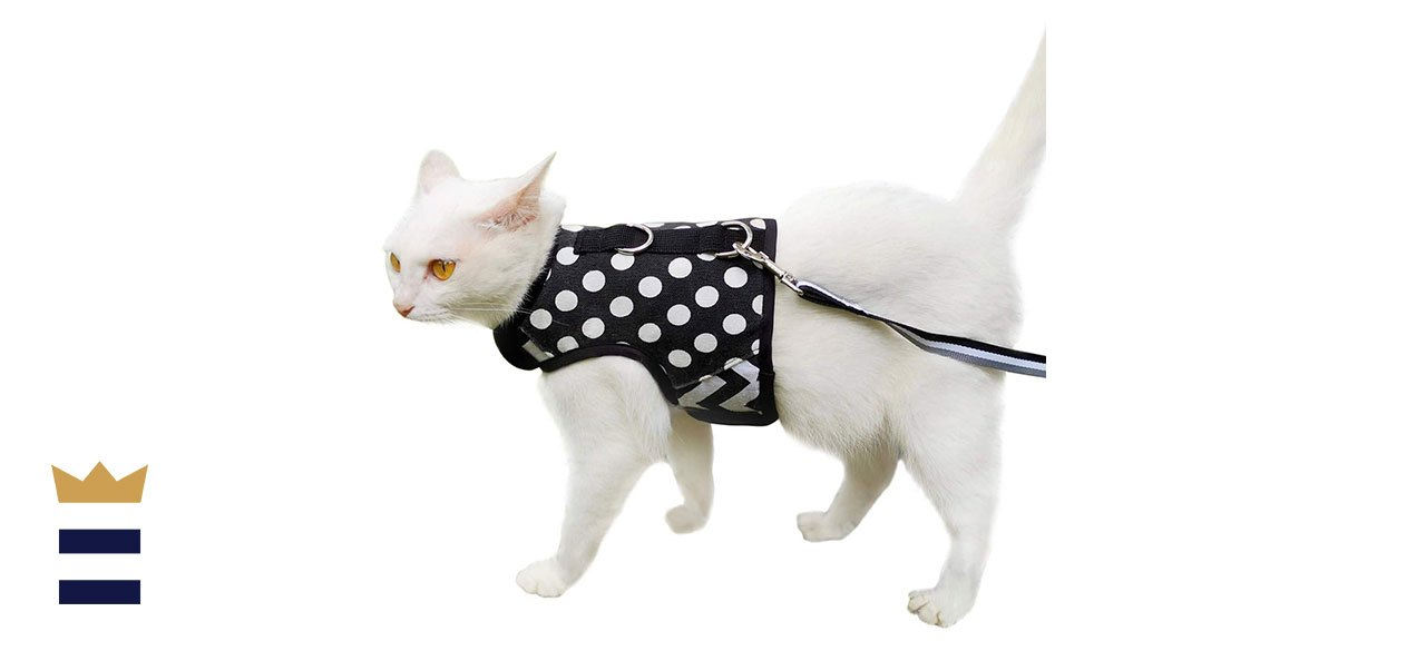 Yizhi Miaow Escape Proof Cat Harness with Leash