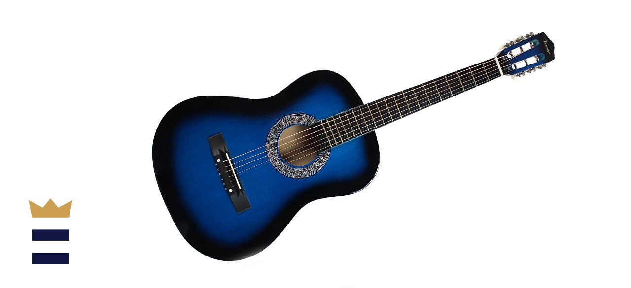 YMC 38-inch Blue Beginner Acoustic Guitar