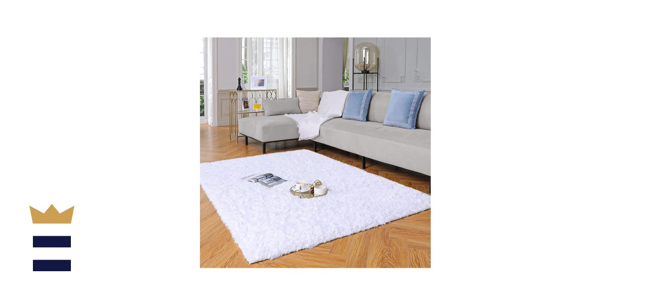 Yome White Rugs for Bedroom