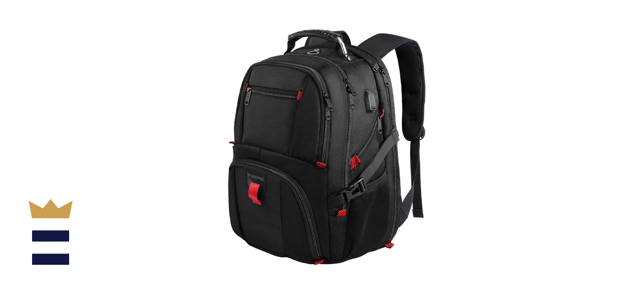 YOREPEK Laptop Backpack with USB Charger Port