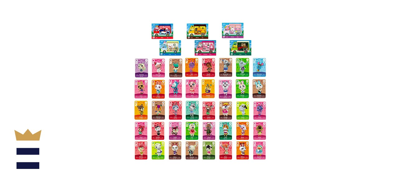 YTWQ 46-Piece NFC Mini Amiibo Cards for Animal Crossing: New Horizons