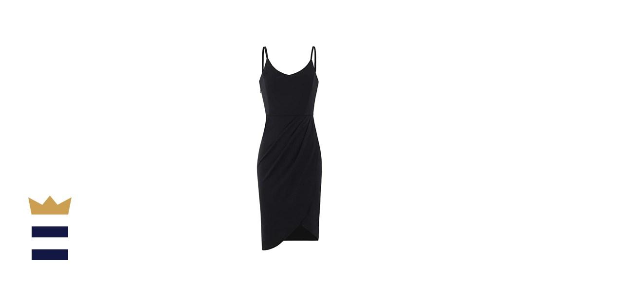 Zalalus Women's Spaghetti Straps V Neck Bodycon Party Dress