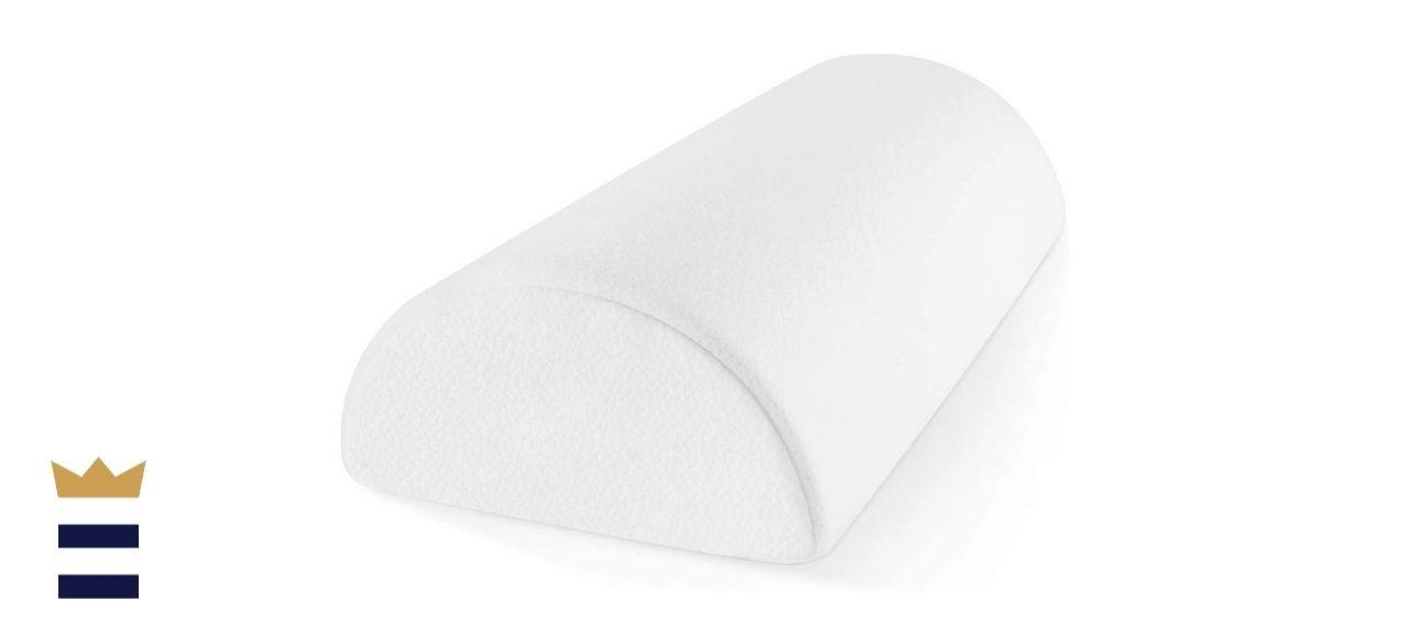 Zen Bamboo's Memory Foam Half-Moon Bolster Pillow