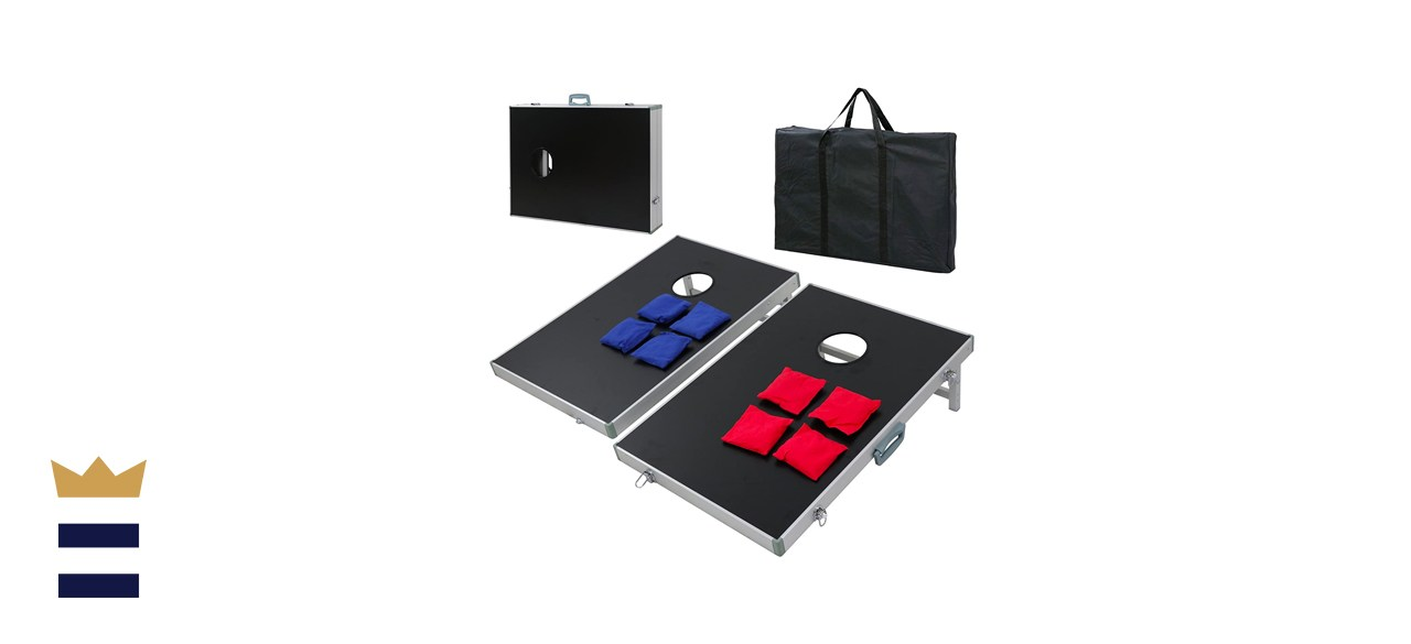 ZENY Cornhole Set 3ft x2ft Cornhole Bean Bag Toss Game Set