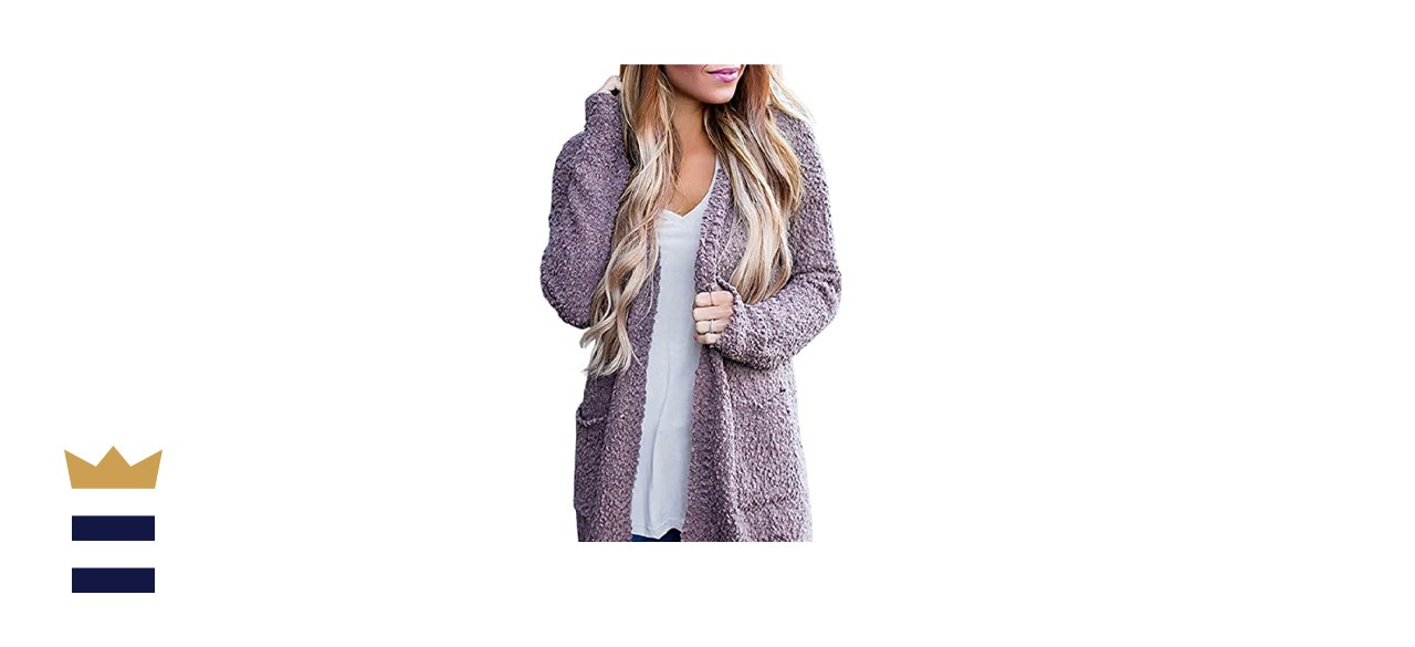 ZESICA Women's Casual Long Sleeve Open Front Soft Chunky Knit Sweater