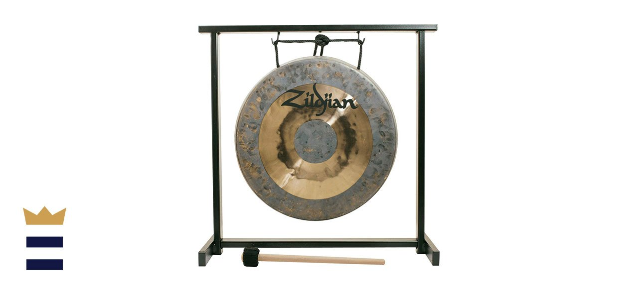 Zildjian's 12-Inch Tabletop Gong and Stand Set