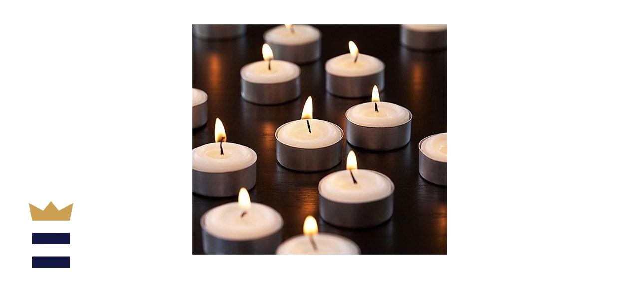 Zion Judaica Unscented Tea Light Candles
