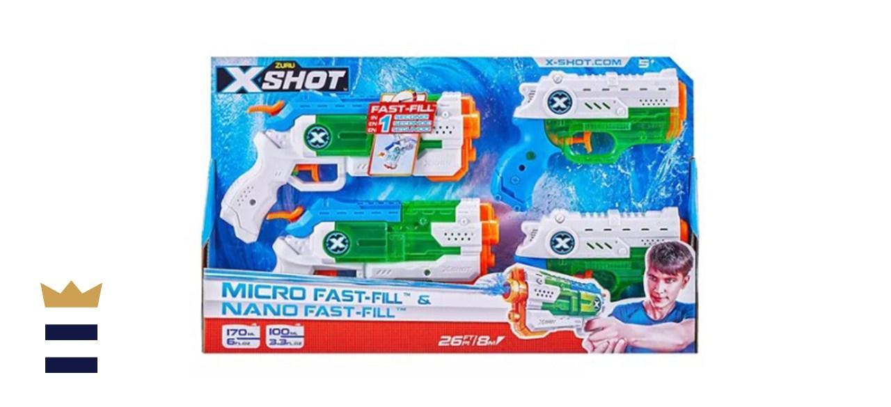 Zuru X-Shot Water Warfare Micro Fast-Fill & Nano Fast-Fill Combo Pack